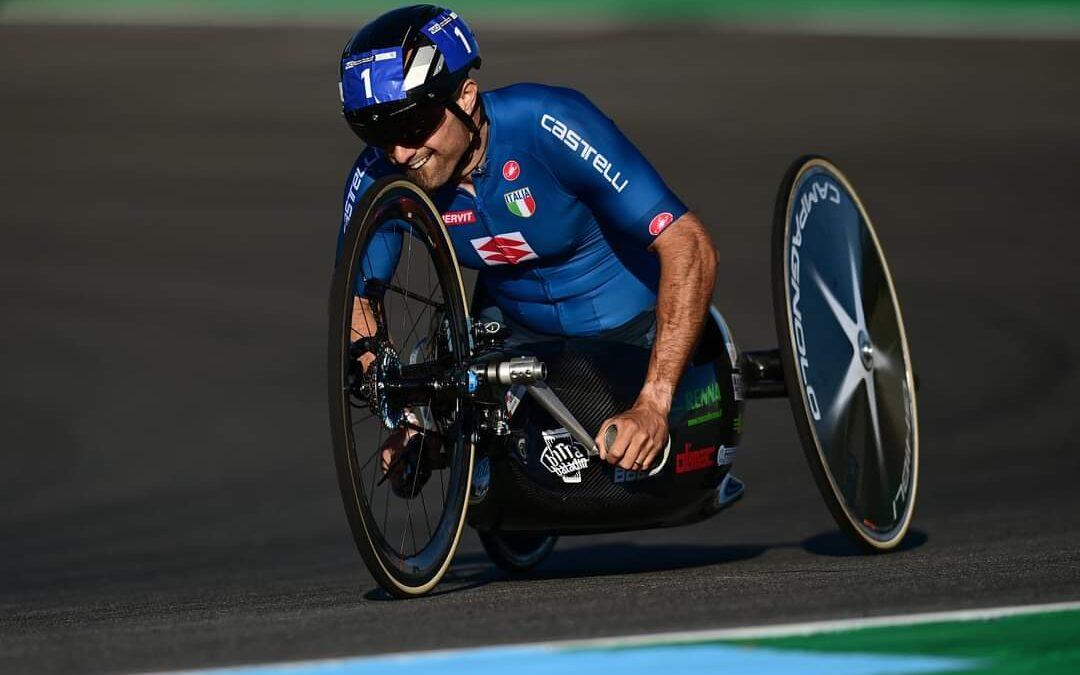 Diego Colombari, campione del mondo di paraciclismo con la nostra Handbike